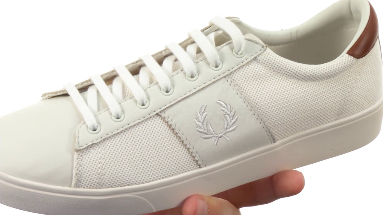 a4c44854bf8dff Fred Perry Spencer Mesh Leather SKU 8610762 - YouTube