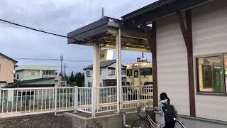 キハ40+48形五能線普通深浦行き2830D藤崎発車