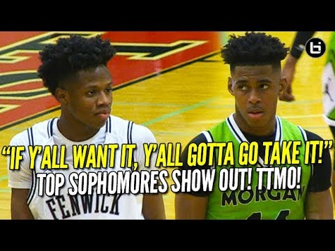 When the Best Players are Just SOPHOMORES! Adam Miller vs DJ Steward! Morgan Park vs Fenwick!