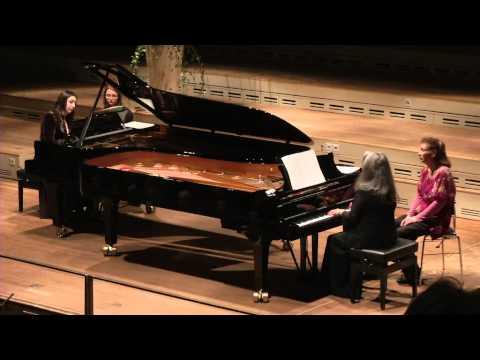 Martha Argerich & Cristina Marton playing Milhaud Scaramouche at Tonhalle Zürich