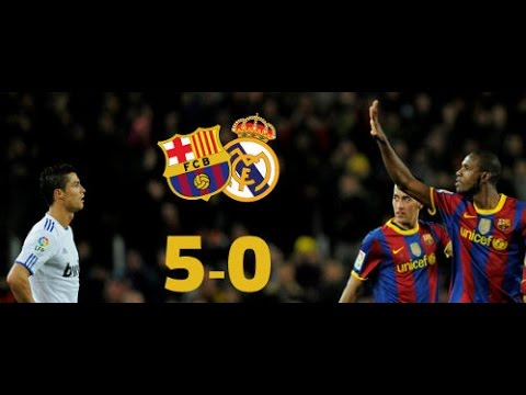 Barcelona vs Real Madrid 5-0 La Liga 2010 Full Match Highlights