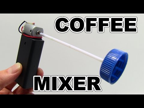 DIY 3 IDEAS - How to make electric coffee mixer at Home