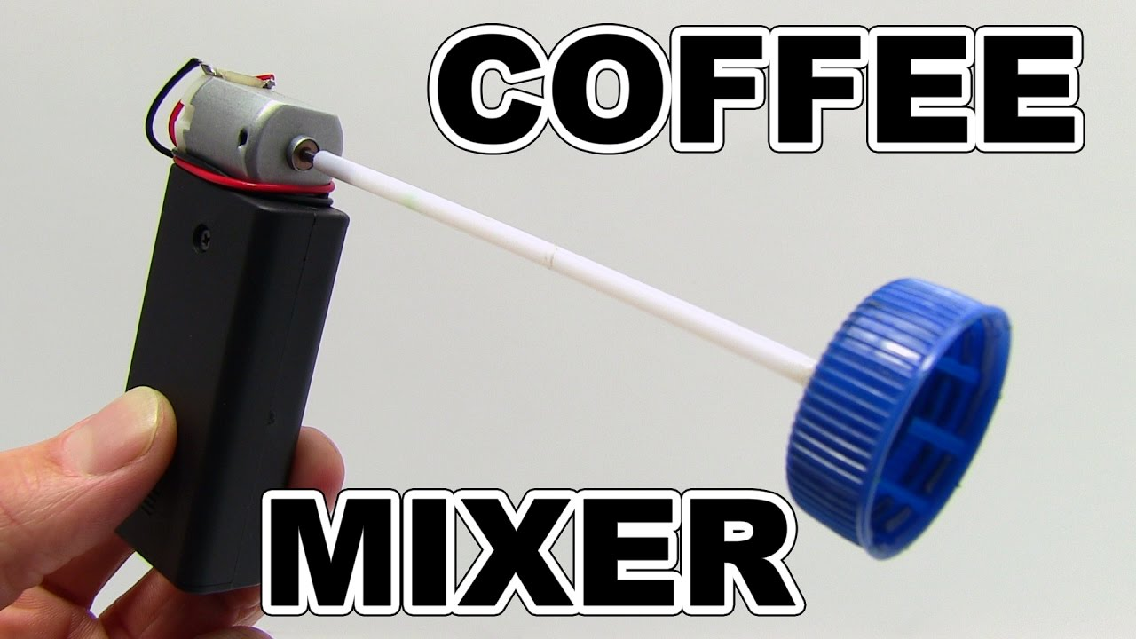 DIY 3 IDEAS - How to make electric coffee mixer at Home - YouTube