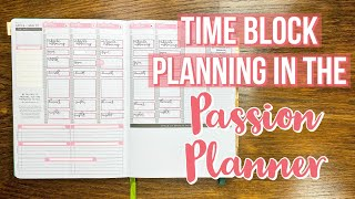 Time Block Planning | Passion Planner