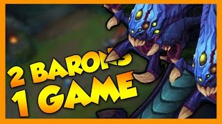 2 Baron Steals in 1 Game - League of Legends