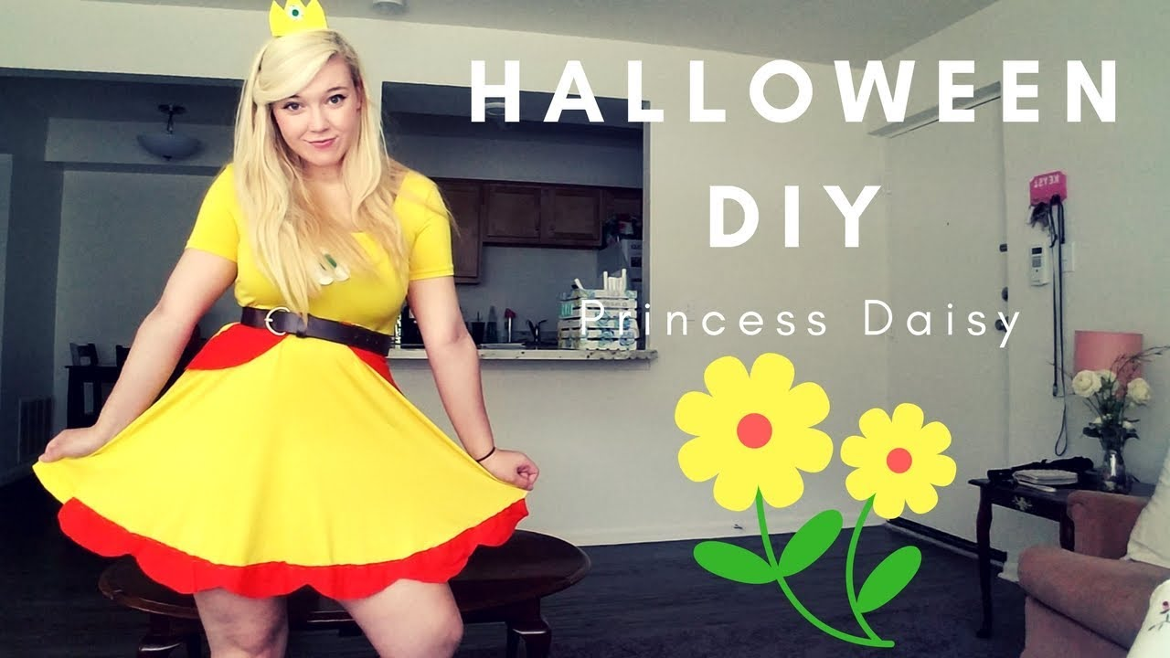 Halloween Diy Princess Daisy Costume Youtube