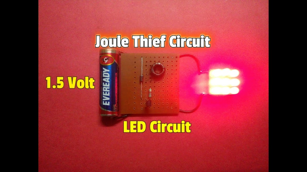 joule thief circuit how to make a simple 1 5 volt led circuit simple science project  [ 1280 x 720 Pixel ]