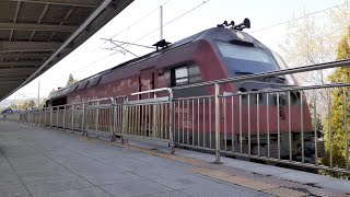 신창역 통과하는 화물열차 소리 기차소리