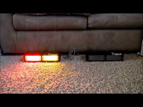 Custom Whelen DashMiser LED Dashlight, Dominator D4 Pattern Demo