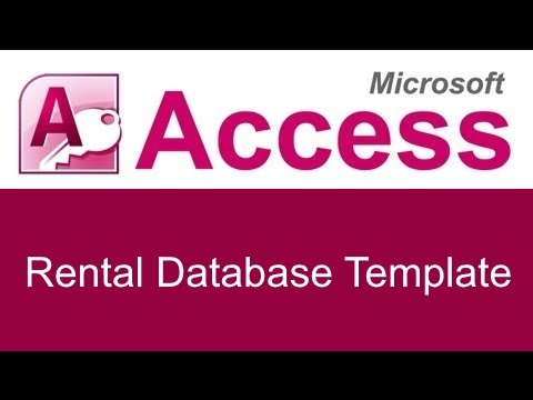 Microsoft Access Rental Database Template  Youtube
