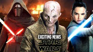 Star Wars! HUGE News For Snoke!, Kylo Ren, Rey & More! (Star Wars News)