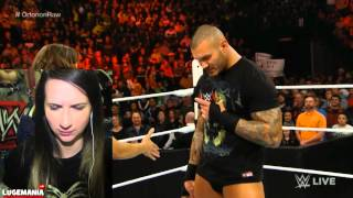 WWE Raw 2/23/15 Randy Orton Opens RAW