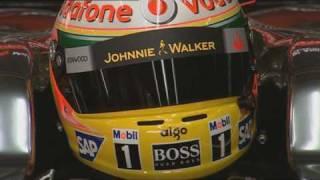 F1 Mclaren Mercedes Hamilton in the Garage