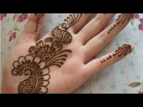 easiest arabic mehndi design