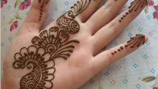 Simple Arabic Mehandi Design | Easy and Quick Henna Tattoo | Indu