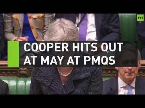 Yvette Cooper hits out at Theresa May at PMQs