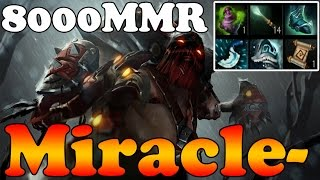 Dota 2 - Miracle- 8000MMR Plays Pudge vol 5 - Ranked Match Gameplay