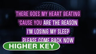 You Are The Reason - Calum Scott | Karaoke Higher Key