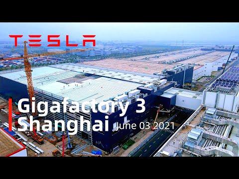 (June 03 2021)Tesla Gigafactory 3 Shanghai 4K Video