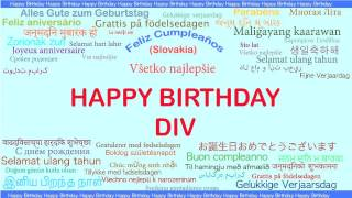 Div   Languages Idiomas - Happy Birthday