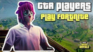GTA Players Play Fortnite: Battle Royale | PS4 Pro