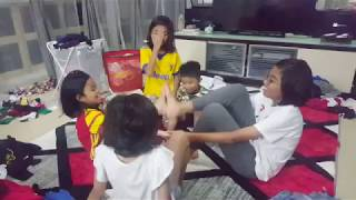 How 5 kids fold clothes at home / thezunafamily / singapore youtuber