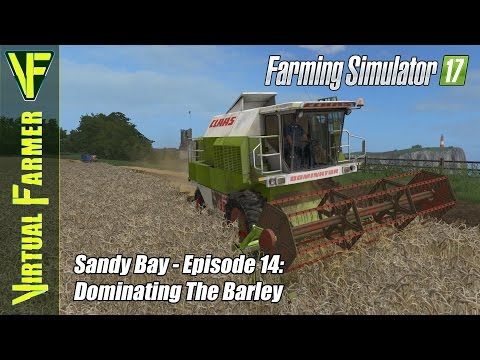 Let's Play Farming Simulator 17 - Sandy Bay, Episode 14: Dominating The Barley