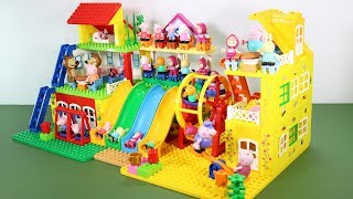 Peppa Pig Lego House With Water Slide Toys For Kids #7