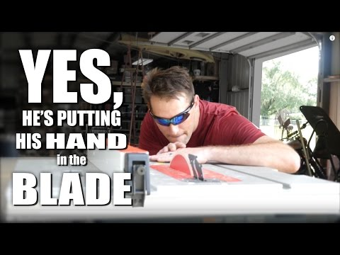 Touching a Spinning Saw Blade - Bosch ReaXX Table Saw Test