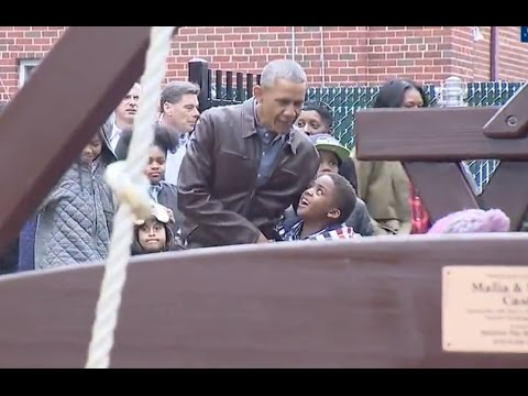 Obamas Donate Their Kids' Playset To Homeless Shelter from YouTube · Duration:  3 minutes 12 seconds