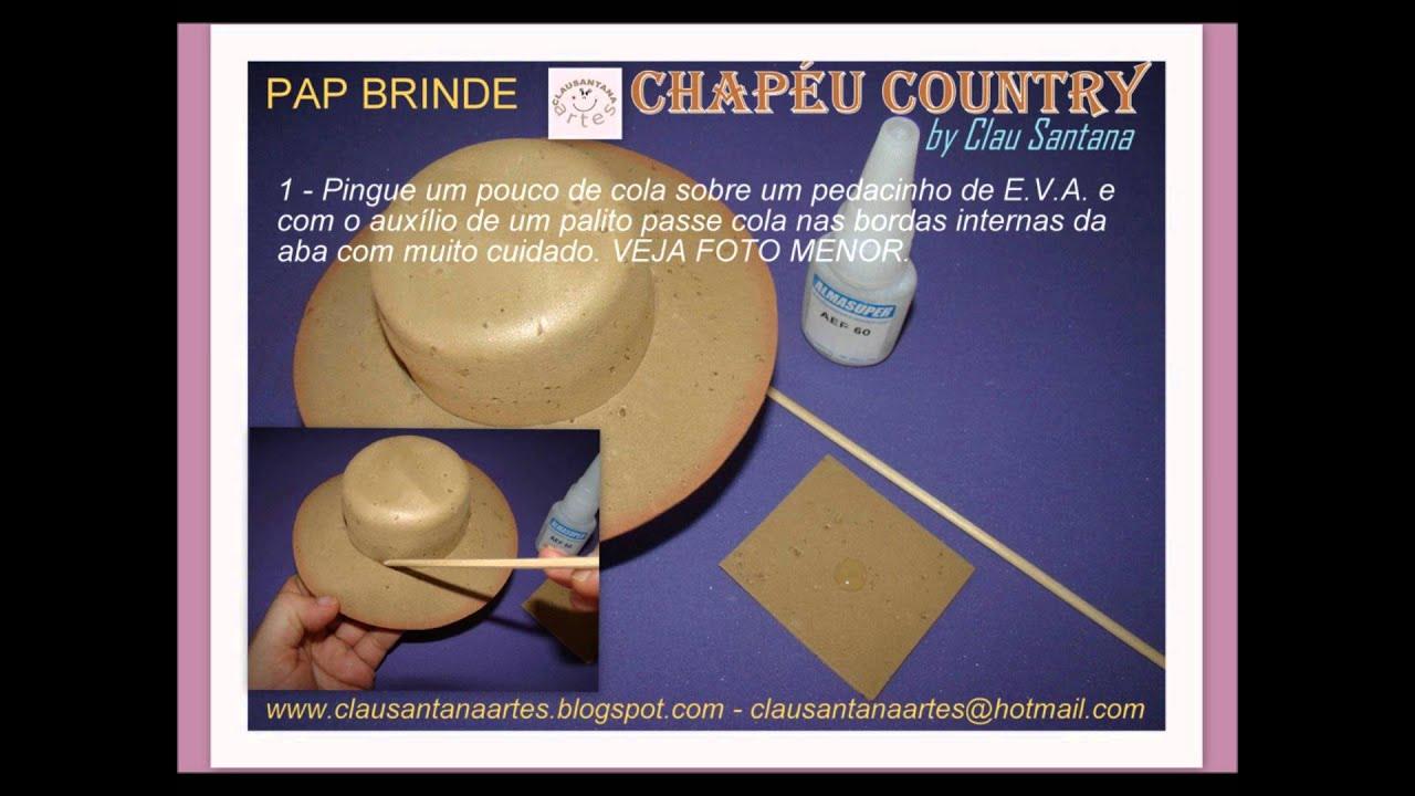 7e2538f4b52c2 PAP Chapéu de EVA - YouTube