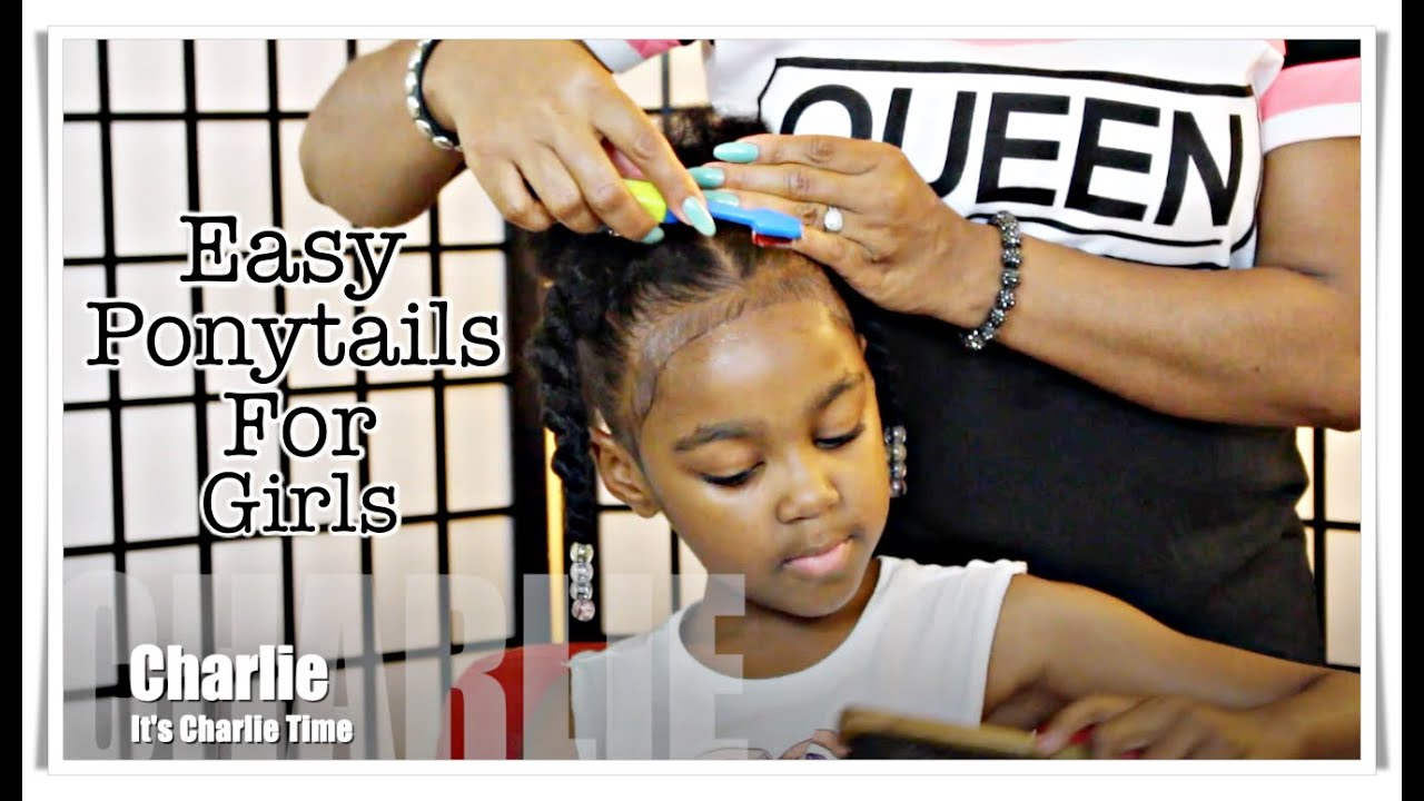 Easy Cute Protective Ponytails Natural Hair Kids Youtube