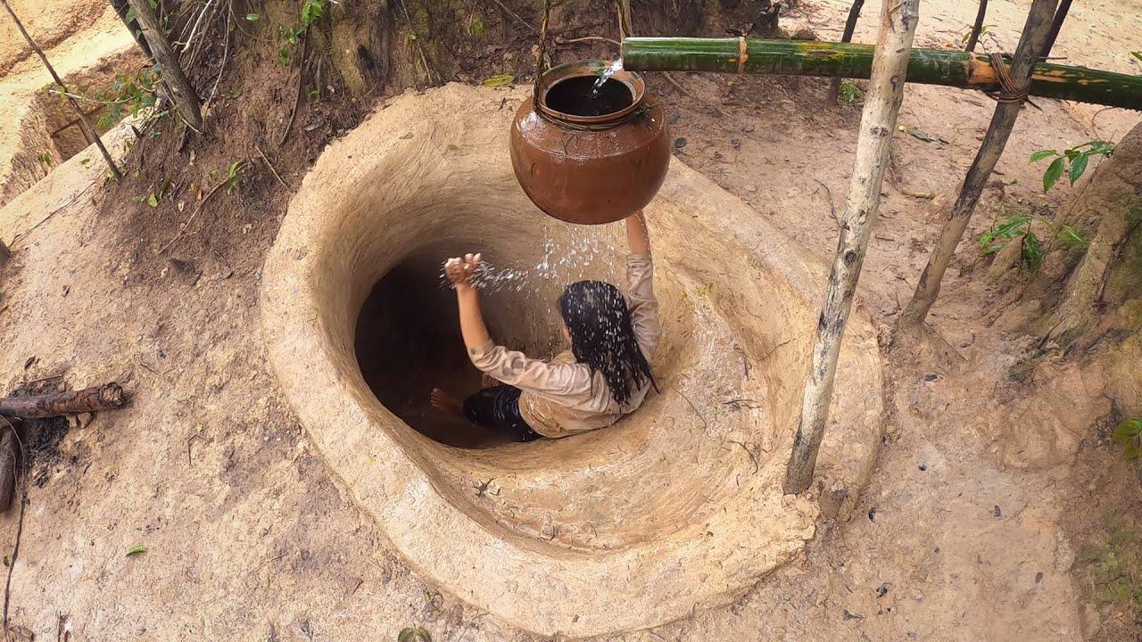 Girl Build The Most Amazing Secret Underground Slide into Undrground House Swimming Pool Villa