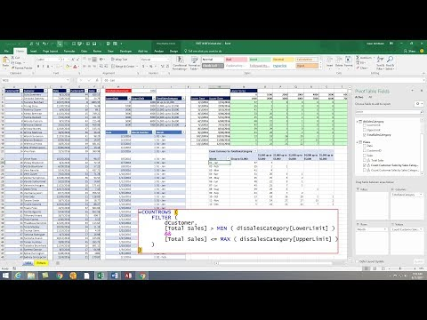 Excel Magic Trick 1454 DAX Measure Count Customer Totals Between Upper Lower Limits, Each Month