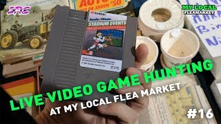 Live LOCAL FLEA MARKET Video Game hunting / BOOT SALE - ERG on Tour #16