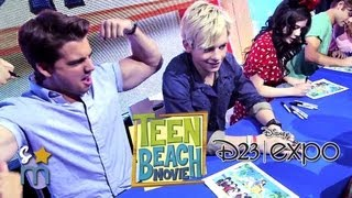 TEEN BEACH MOVIE Cast Hangs at Disney D23 Expo - Ross Lynch, Grace Phipps