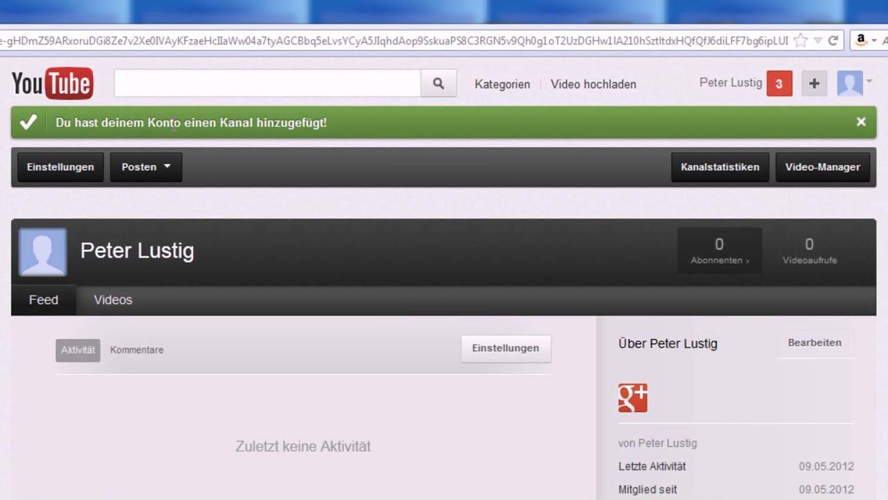 Youtube Konto