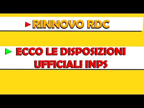 RINNOVO RDC: ECCO le disposizioni UFFICIALI INPS