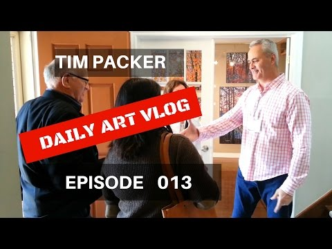 How To Talk About Your Art  - Tim Packer Daily Art Vlog - Episode 013