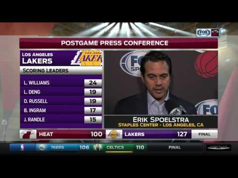 Erik Spoelstra -- Miami Heat at Los Angeles Lakers 01/06/2017