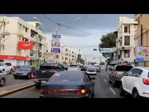 Driving In Santiago, Life in Dominican Republic city living in cibao center part 1