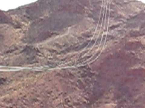 Zipline in Bootleg Canyon Nevada.  Landing Shot.