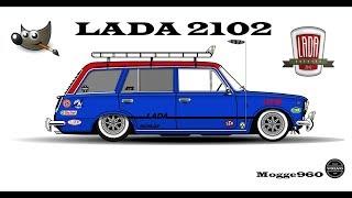 styling a lada 2102 (Raggarstuk)