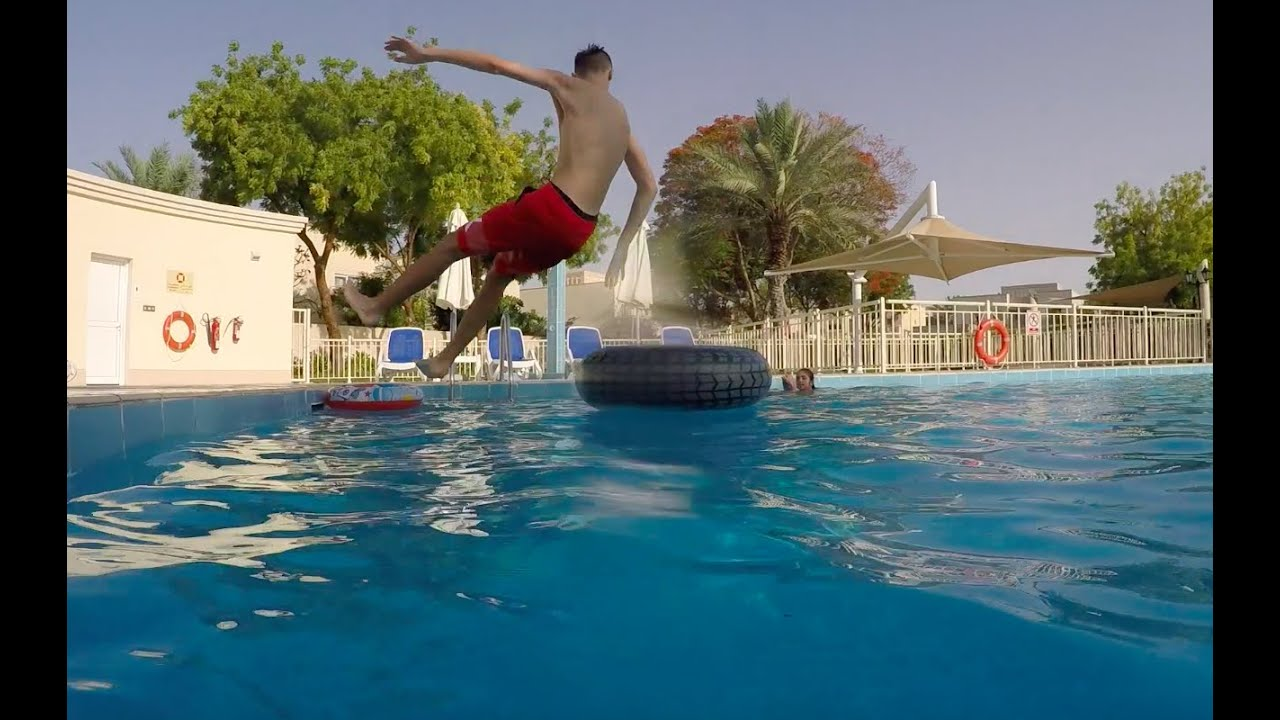 crazy swimming pool stunts in slow motion - Crazy Swimming Pools