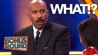FUNNY FILL IN THE BLANK On Family Feud With Steve Harvey