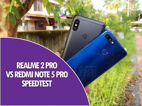 Realme 2 Pro vs Xiaomi Redmi Note 5 Pro Speedtest Comparison