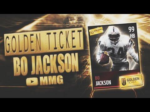 Golden Ticket Bo Jackson Gameplay/Review! Madden Mobile