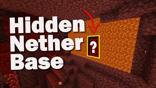 How to Hide Your Nether Base with a LAVA FALL (+ world download) Minecraft 1.16