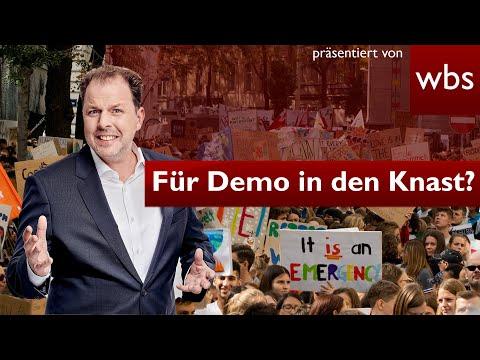 Neues drastisches Versammlungsgesetz: Bald für Demo in den Knast?