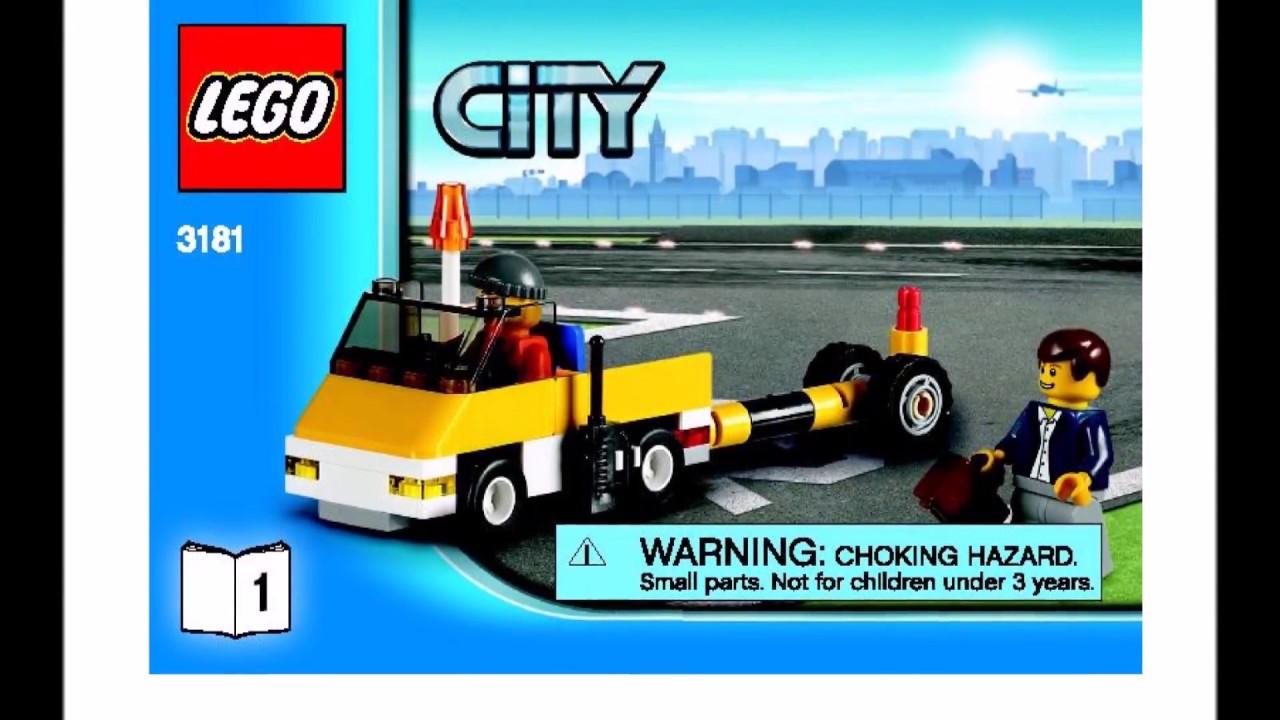 Lego passenger plane instructions 3181, city.